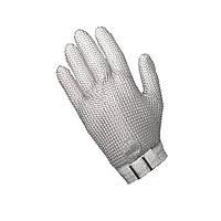 Защитная кольчужная перчатка пятипалая NIROFLEX FM PLUS размер S до запястья с текстильным ремешком