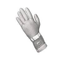 Защитная кольчужная перчатка пятипалая NIROFLEX FM PLUS размер S высота манжета 7,5 см с текстильным ремешком