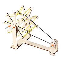 Обертаючий механізм для дітей - дерев'яний конструктор - саморобка