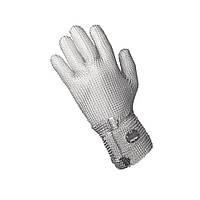 Кольчужная перчатка 5палая из металла для разделки мяса и устриц NIROFLEX 2000 размер L высота манжета 7,5 см