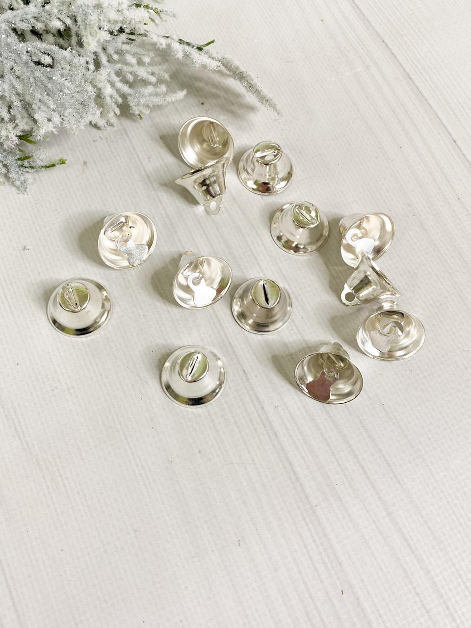 Металевий Дзвіночок 1,5*2 см срібний