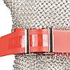 Кольчужна рукавиця на всю руку пятипалая сталева c еластичним пластиковим ремінцем NIROFLEX EasyFit розмір L, фото 2