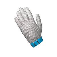 Кольчужная перчатка 5палая для разделки мяса и устриц NIROFLEX FM PLUS размер L до запястья с ремешком
