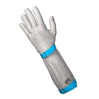 Кольчужная перчатка 5палая для разделки мяса и устриц NIROFLEX FM PLUS размер L манжет 19 см с ремешком