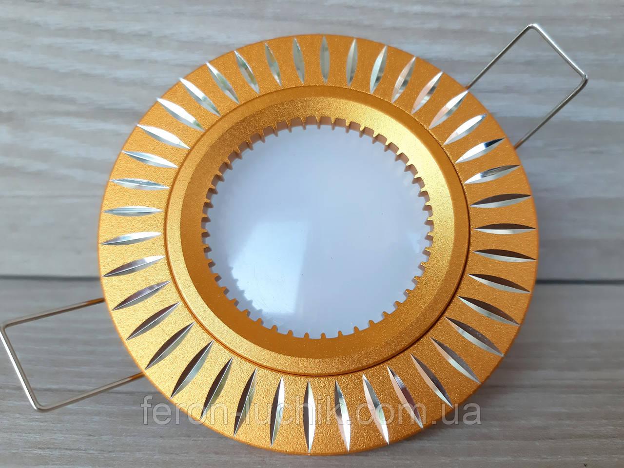 Светильник точечный Feron GS-M394 GU5.3 МR-16 золото