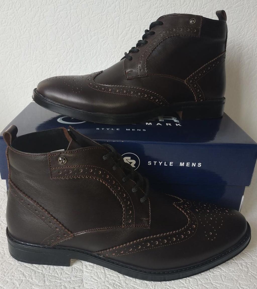 TODS реплика! мужские броги оксфорд на шнуровке натуральная кожа коричневые ботинки Зимние