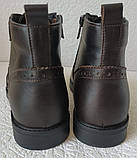 TODS реплика! мужские броги оксфорд на шнуровке натуральная кожа коричневые ботинки Зимние, фото 5