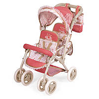 Двухместная раскладная прогулочная коляска для двух кукол от DeCuevas 90333 с сумкой