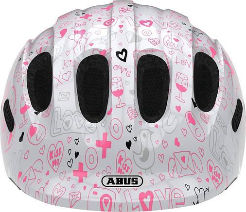Велосипедний дитячий шолом ABUS SMILEY 2.1 M 50-55 White Crush, фото 2
