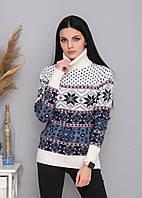 Жіночий новорічний светр, святковий светр, фото 1