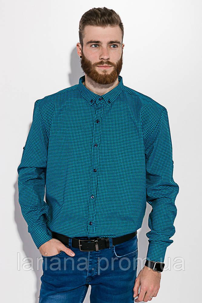 Рубашка 511F006 цвет Черно-бирюзовый