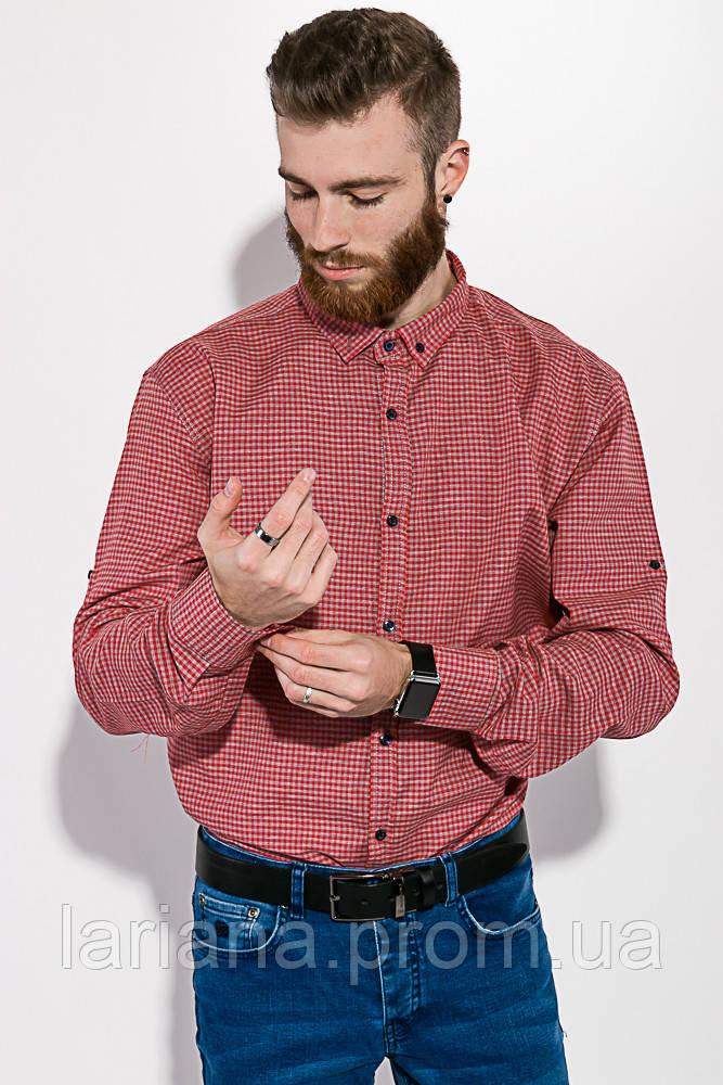 Рубашка 511F006 цвет Красно-серый