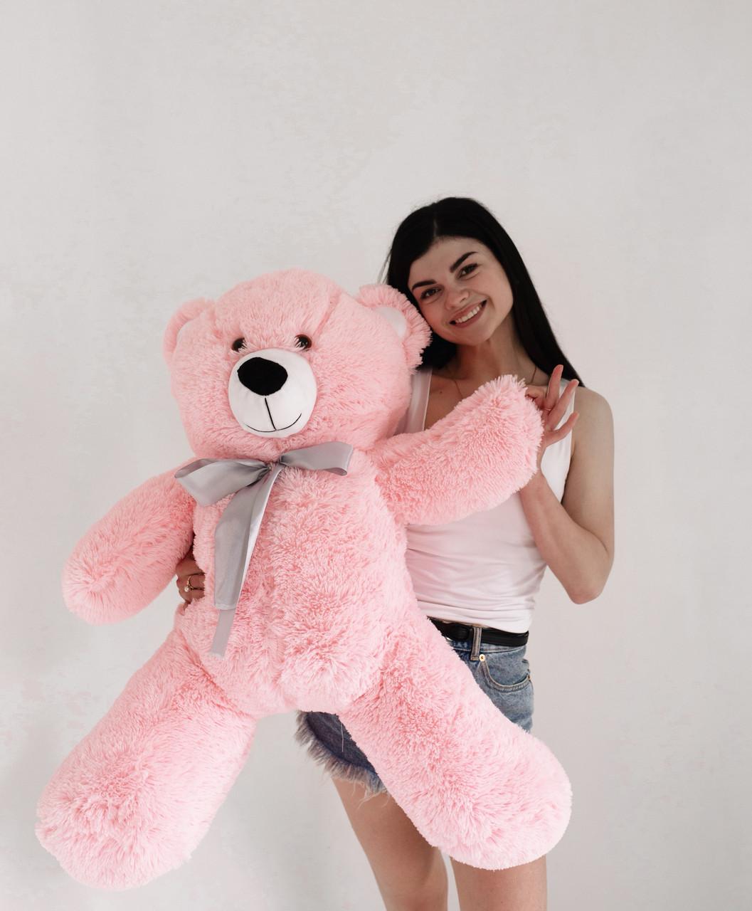 Плюшевий Ведмедик Рожевий 120см