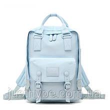 Женский городской рюкзак Doughnut Macaroon Pastel голубой  Код 11-1002