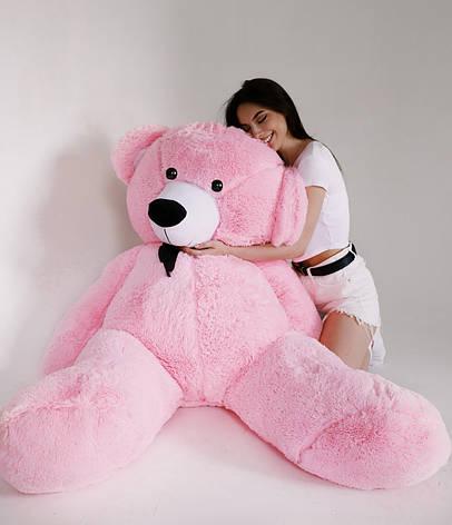 Плюшевий Ведмедик Рожевий 200см, фото 2