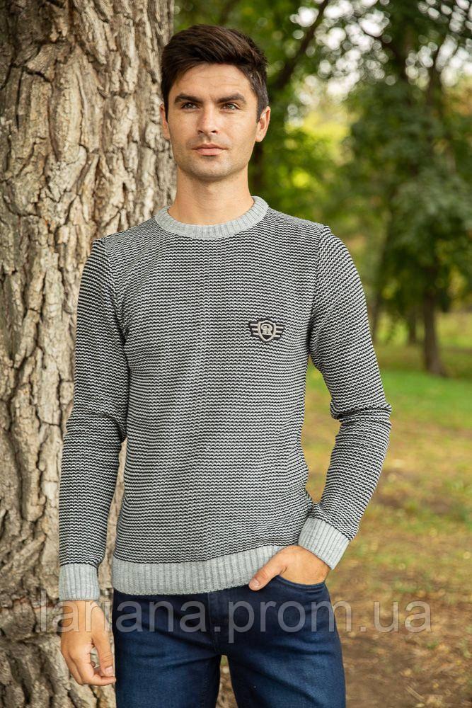 Джемпер мужской 154R2033 цвет Серый