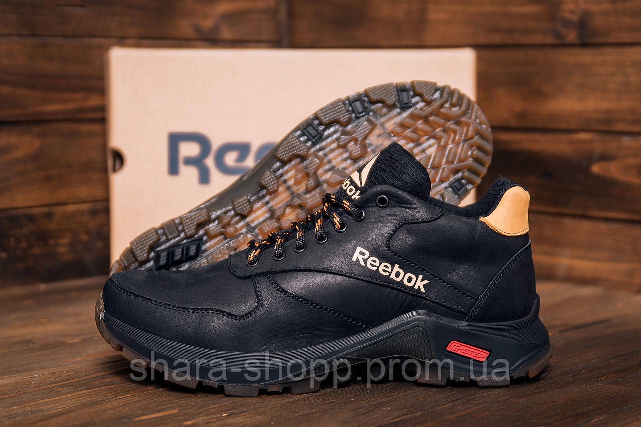 Мужские Кроссовки Reebok на меху Мужские зимние кожаные ботинки Reebok G-Step