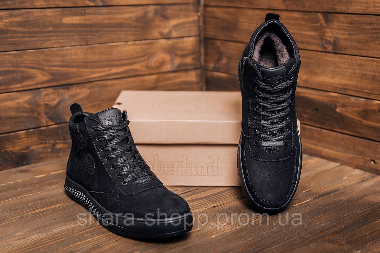 Мужские зимние кожаные ботинки Timberland  Black  мужские зимние ботинки Зимние мужские кроссовки