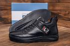 Повседневные кроссовки мужские зимние на меху Мужские зимние кожаные ботинки FILA Black, фото 9