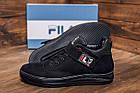 Мужские зимние кожаные ботинки FILA Black  Зимние мужские кроссовки, фото 9