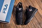 Мужские зимние кожаные ботинки FILA Black  Зимние мужские кроссовки, фото 10
