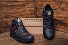 Мужские зимние кожаные ботинки Reebok Black leather Зимние мужские кроссовки, фото 9