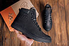 Мужские зимние кожаные ботинки Polar Bear Black leather Мужская зимняя обувь Чоловіче зимове шкіряне взуття, фото 7