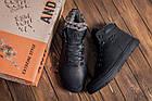 Мужские зимние кожаные ботинки Polar Bear Black leather Мужская зимняя обувь Чоловіче зимове шкіряне взуття, фото 8