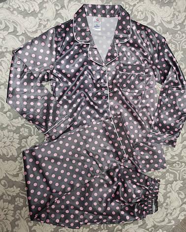 Женская пижама атлас 36-3, фото 2
