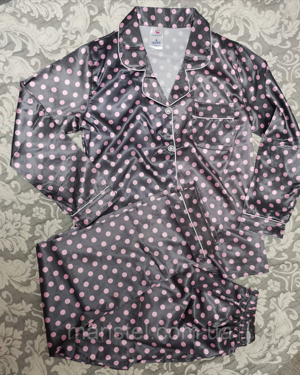 Женская пижама атлас 36-3