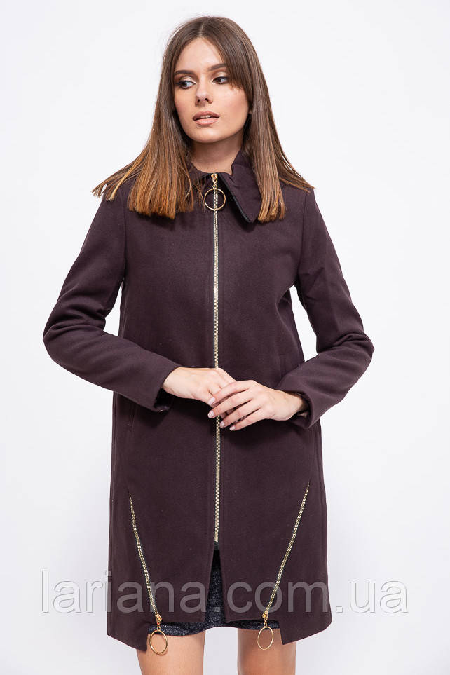 Пальто женское 153R970 цвет Шоколадный