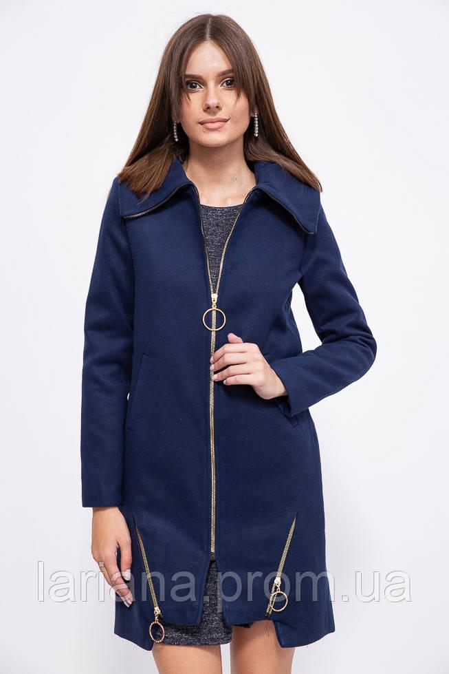 Пальто женское 153R970 цвет Темно-синий