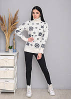 Женский новогодний свитер, праздничный свитер, фото 1