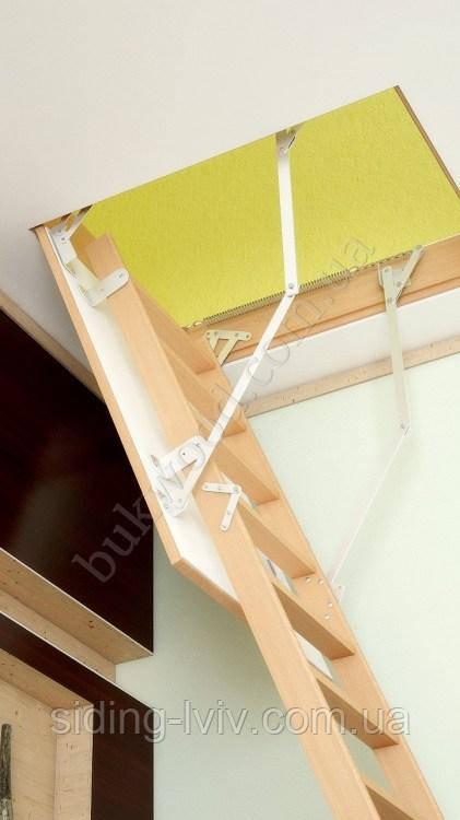 Горищні сходи Bukwood Compact Long 120х60, 120х70