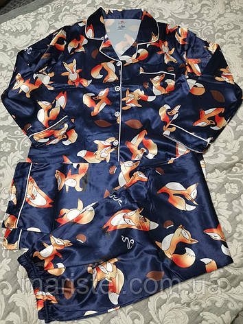 Женская пижама атлас 36-4, фото 2