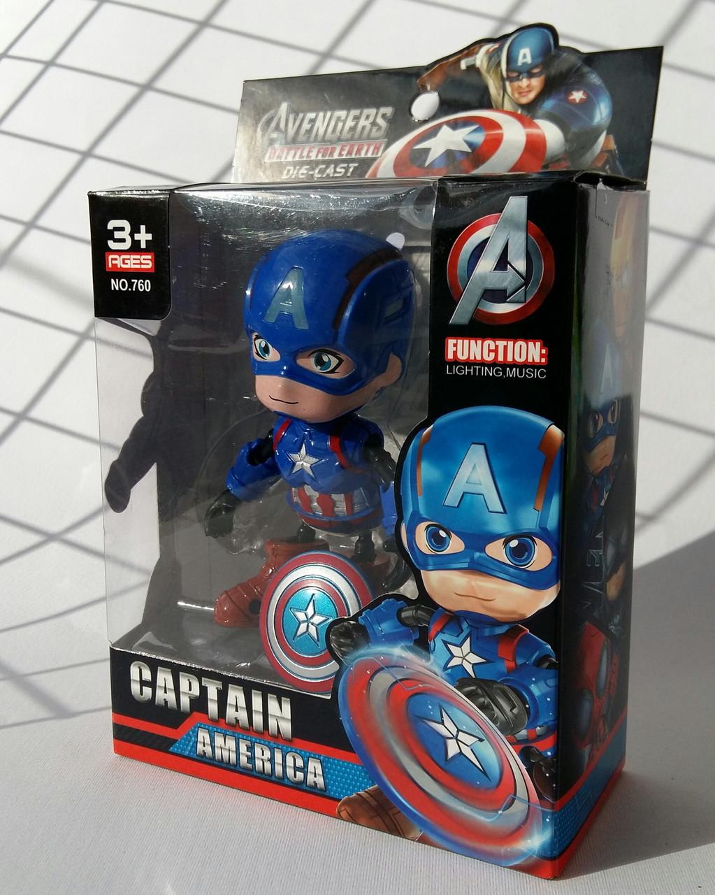 Робот фигура металлическая Супергерои Капитан Америка BF1041