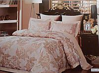 Комплект жаккардовой премиум-постели, персиковый
