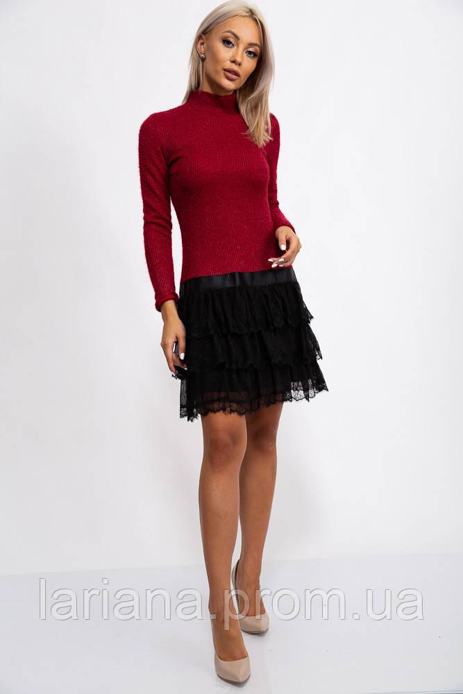 Платье 131R2895 цвет Бордовый