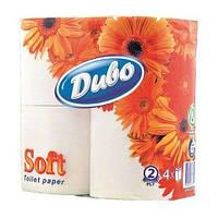 Туалетная бумага Обухов 2-слойная 4рулона/150 целлюлоза белая Украина