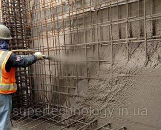 Напыление бетона набрызг бетона
