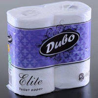 Туалетная бумага ЭЛИТ ОБУХОВ 3-слойная/156 4 рулона белая Украина