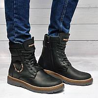 Мужские ботинки с мехом в стиле Diesel, фото 1