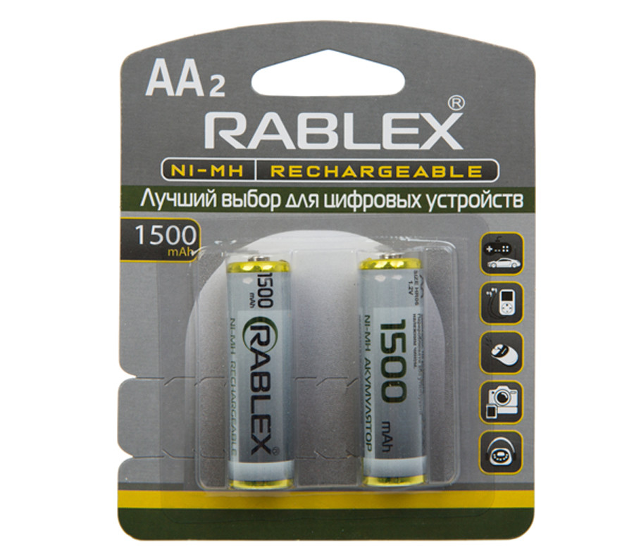Аккумулятор AA Rablex 1500mAh