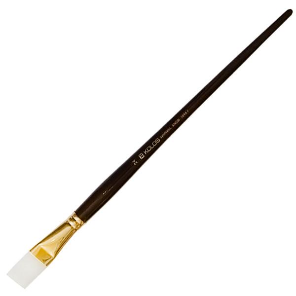 Кисть синтетика Kolos Snow 1098F плоская №24 длин. ручка (4823064901788)