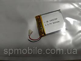 Аккумулятор 043035 для China (Li-ion 3.7В 500мА·ч), (35*30*4 мм)