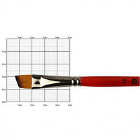 Кисть синтетика Kolos Carrot 1097А угловая №10 кор. ручка (4823064904109)