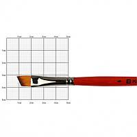 Кисть синтетика Kolos Carrot 1097А угловая №6 кор. ручка (4823064904093)