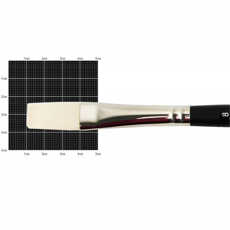 Кисть синтетика Kolos Milk 1108F плоская удлиненная №8 кор. ручка (4823064905335)
