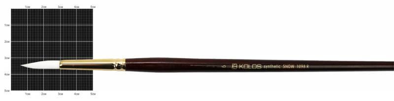 Кисть синтетика Rosa Snow 1098R Kolos круглая №6 длин. ручка (4823064902020)