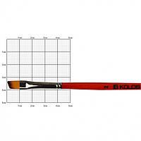 Кисть синтетика Kolos Carrot 1097А угловая №2 кор. ручка (4823064904079)
